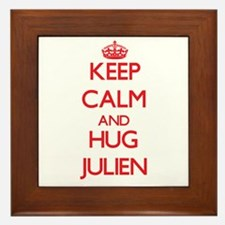 Keep Calm and HUG Julien Framed Tile