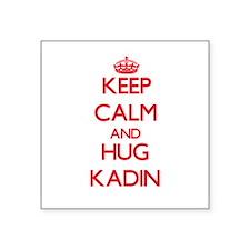 Keep Calm and HUG Kadin Sticker