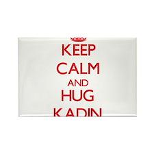 Keep Calm and HUG Kadin Magnets