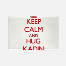 Keep Calm and HUG Kadin Magnets