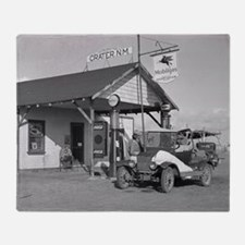 New Mexico Filling Station, 1936 Throw Blanket