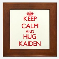 Keep Calm and HUG Kaiden Framed Tile