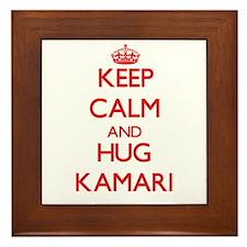 Keep Calm and HUG Kamari Framed Tile