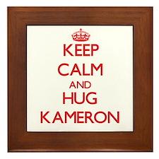 Keep Calm and HUG Kameron Framed Tile