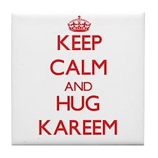 Keep Calm and HUG Kareem Tile Coaster