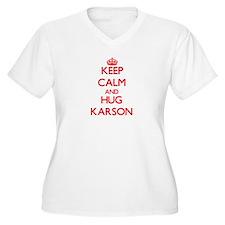 Keep Calm and HUG Karson Plus Size T-Shirt