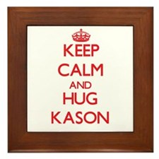Keep Calm and HUG Kason Framed Tile