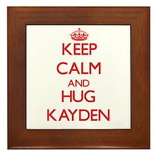Keep Calm and HUG Kayden Framed Tile