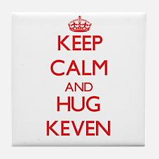 Keep Calm and HUG Keven Tile Coaster