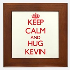 Keep Calm and HUG Kevin Framed Tile