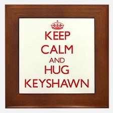 Keep Calm and HUG Keyshawn Framed Tile