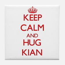 Keep Calm and HUG Kian Tile Coaster