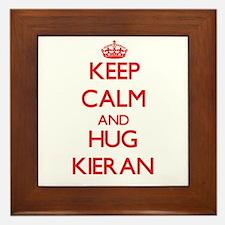 Keep Calm and HUG Kieran Framed Tile