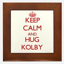 Keep Calm and HUG Kolby Framed Tile