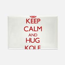 Keep Calm and HUG Kole Magnets