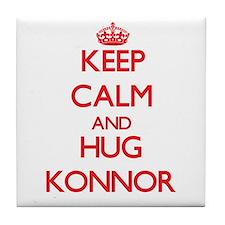 Keep Calm and HUG Konnor Tile Coaster