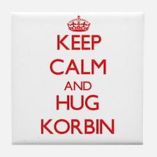 Keep Calm and HUG Korbin Tile Coaster