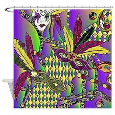 Mardi Gras Feather Masks Shower Curtain