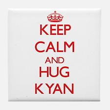 Keep Calm and HUG Kyan Tile Coaster