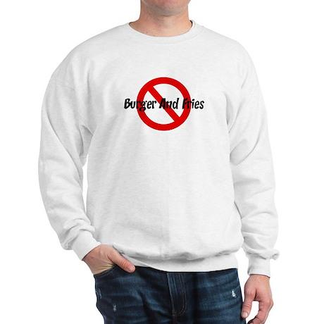 Anti Burger And Fries Sweatshirt