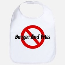 Anti Burger And Fries Bib