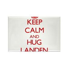 Keep Calm and HUG Landen Magnets