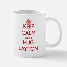 Keep Calm and HUG Layton Mugs