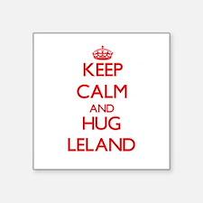 Keep Calm and HUG Leland Sticker