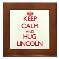 Keep Calm and HUG Lincoln Framed Tile
