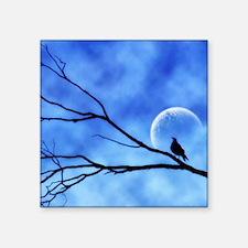 """Blue Moon Bird  Square Sticker 3"""" x 3"""""""