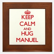 Keep Calm and HUG Manuel Framed Tile