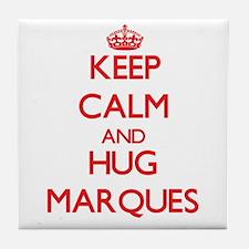 Keep Calm and HUG Marques Tile Coaster