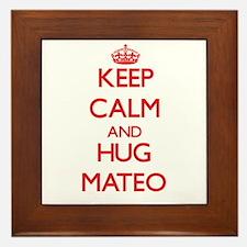 Keep Calm and HUG Mateo Framed Tile