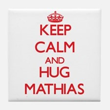 Keep Calm and HUG Mathias Tile Coaster
