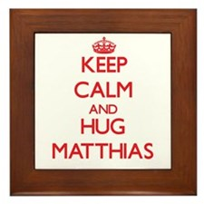 Keep Calm and HUG Matthias Framed Tile