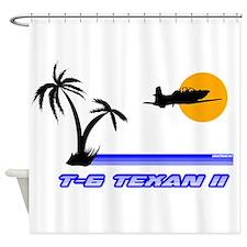 Retro T-6 Shower Curtain