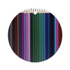 Colored Pencils Pack Ornament (Round)