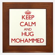 Keep Calm and HUG Mohammed Framed Tile