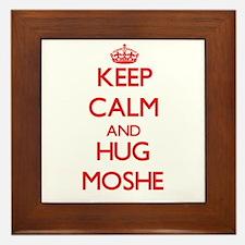 Keep Calm and HUG Moshe Framed Tile