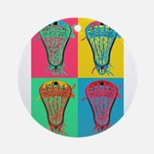 Lacrosse BIG 4 Ornament (Round)