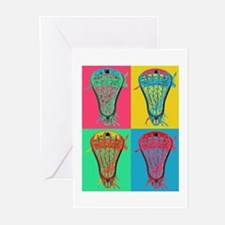 Lacrosse BIG 4 Greeting Cards