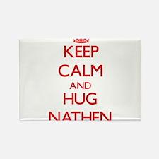 Keep Calm and HUG Nathen Magnets