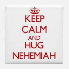 Keep Calm and HUG Nehemiah Tile Coaster