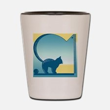 Cat in the Window Shot Glass