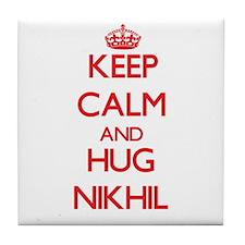 Keep Calm and HUG Nikhil Tile Coaster