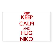 Keep Calm and HUG Niko Decal