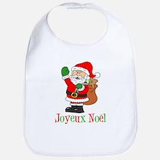 Joyeux Noel Santa Kids Bib