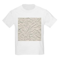 Wrinkled Cream Paper Texture T-Shirt