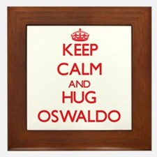 Keep Calm and HUG Oswaldo Framed Tile