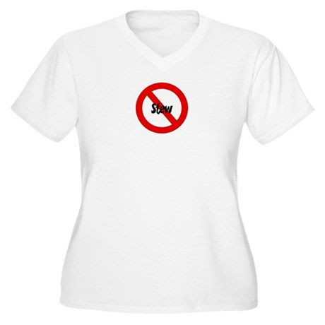 Anti Stew Women's Plus Size V-Neck T-Shirt